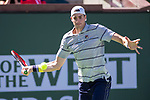 March 11, 2018: John Isner (USA) defeated by Gael Monfils (FRA) 6-7, 7-6, 7-5 at the BNP Paribas Open played at the Indian Wells Tennis Garden in Indian Wells, California. ©Mal Taam/TennisClix/CSM