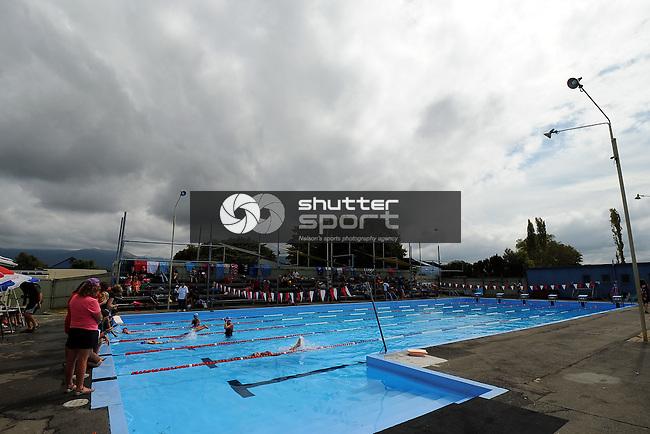 2013 School Swimming Champs at Motueka High School. Motueka, Nelson, New Zealand. Saturday 16 March 2013. Photo: Chris Symes/www.shuttersport.co.nz