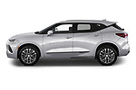Car Driver side profile view of a 2020 Chevrolet Blazer Premier 5 Door SUV Side View