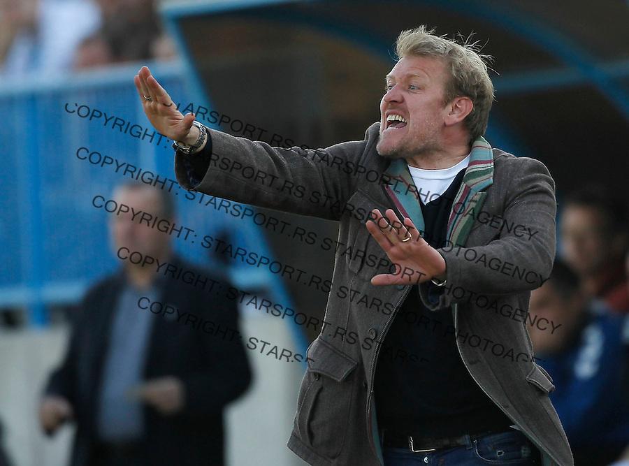 Fudbal, Jelen super liga, sezona 2011/12.BSK Borca Vs. Crvena Zvezda.Head coach Robert Prosinecki.Belgrade, 17.03.2012..foto: Srdjan Stevanovic/Starsportphoto ©