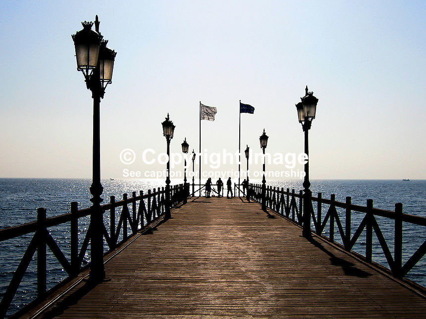 Jetty, near Puente Romano Hotel, Marbella, Spain, 2007010170015..Copyright Image from Victor Patterson, 54 Dorchester Park, Belfast, UK, BT9 6RJ..Tel: +44 28 9066 1296.Mob: +44 7802 353836.Voicemail +44 20 8816 7153.Skype: victorpattersonbelfast.Email: victorpatterson@mac.com.Email: victorpatterson@ireland.com (back-up)..IMPORTANT: If you wish to use this image or any other of my images please go to www.victorpatterson.com and click on the Terms & Conditions. Then contact me by email or phone with the reference number(s) of the image(s) concerned.