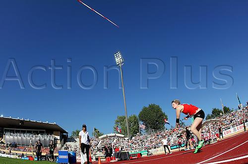 03.07.2014. Lausanne, Switzerland. International athletics, IAAF Diamond League.  Javelin for women, Nathalie Meier (SUI)