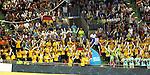 19.08.2014, Velodrom, Berlin, GER, Berlin, Schwimm-EM 2014, im Bild Zuschauer, Deutsche Fans, Deutsches Maskottchen<br /> <br />               <br /> Foto &copy; nordphoto /  Engler