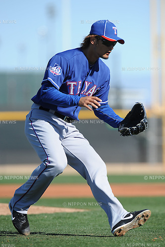 Yu Darvish (Rangers),.FEBRUARY 24, 2012 - MLB :.Texas Rangers spring training camp in Surprise, Arizona, United States. (Photo by AFLO)