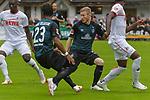 20.07.2018, Zillertalarena, Zell am Ziller, AUT, FSP, 1.FBL, SV Werder Bremen (GER) vs 1. FC Koeln (GER), im Bild<br /> Sehrou Guirassy (Koeln #19)<br /> Theodor Gebre Selassie (Werder Bremen #23)<br /> Florian Kainz (Werder Bremen #07)<br /> <br /> <br /> Foto © nordphoto / Kokenge