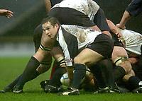 11/01/2004 - Photo  Peter Spurrier.2003/04 Parker Pen Challenge Cup Saracens v Glasgow.Glasgow Rugby's Graeme Beveridge..   [Mandatory Credit, Peter Spurier/ Intersport Images].