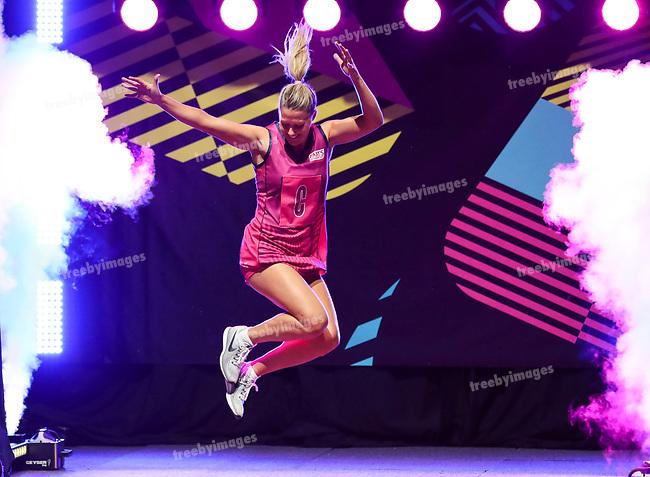 29/10/17 Fast5 2017<br /> Fast 5 Netball World Series<br /> Hisense Arena Melbourne<br /> Celebrity Match<br /> <br /> <br /> <br /> <br /> <br /> <br /> Photo: Grant Treeby