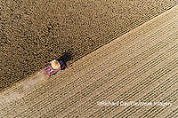 63801-12703 Harvesting corn in fall-aerial  Marion Co. IL