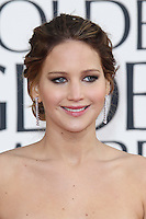 BEVERLY HILLS, CA - JANUARY 13: Jennifer Lawrence at the 70th Annual Golden Globe Awards at the Beverly Hills Hilton Hotel in Beverly Hills, California. January 13, 2013. Credit: mpi29/MediaPunch Inc. /NortePhoto