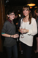 Becca Robinson and Lisa Robinson attend the Happy Groups Launch Party at the Luxe Lounge at Lucky Strike, on May 22 in New York City.