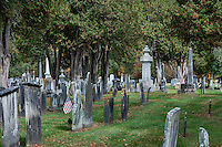 Cemetery memorials, Chester, Vermont, USA