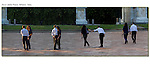 Couple at the Arco della Pace, Milan, Italy. Photoshop composite.