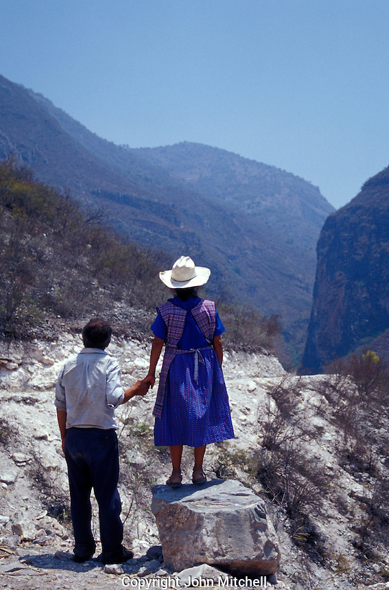 Elderly indigenous couple in the Sierra Gorda Biosphere Reserve, Queretaro state, Mexico