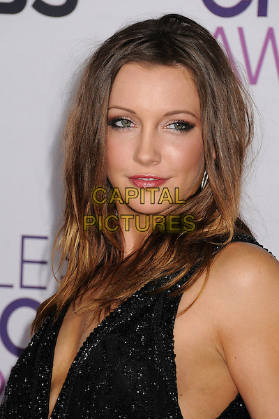 Katie Cassidy.People's Choice Awards 2013 - Arrivals held at Nokia Theatre L.A. Live, Los Angeles, California, USA..January 9th, 2013.headshot portrait black sparkly .CAP/ADM/BP.©Byron Purvis/AdMedia/Capital Pictures.
