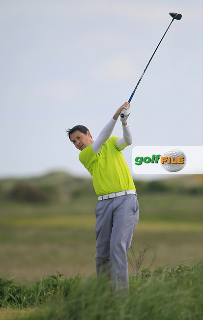 Karl Purcell (Dun Laoghaire)<br /> during the 2nd round of the East of Ireland Amateur Open Championship 2013 Co Louth Golf club 2/6/13<br /> Picture:  Thos Caffrey / www.golffile.ie