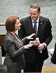 New Zealand Prime Minister John Key visits Federal Parliament and addresses both Houses, Canberra,  Monday, 20th June, 2011.    Photo: Mark Graham.