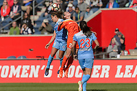 Bridgeview, IL - Saturday May 06, 2017: Danielle Colaprico, Caity Heap during a regular season National Women's Soccer League (NWSL) match between the Chicago Red Stars and the Houston Dash at Toyota Park. The Red Stars won 2-0.