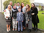 Bobby O'Sullivan Who received first holy communion in St Cianan's church Duleek with his family.<br /> <br /> Photo-Jenny Matthews