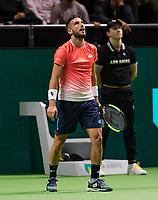 Rotterdam, The Netherlands, 13 Februari 2019, ABNAMRO World Tennis Tournament, Ahoy,  Damir Dzumhur (BIH) <br /> Photo: www.tennisimages.com/Henk Koster