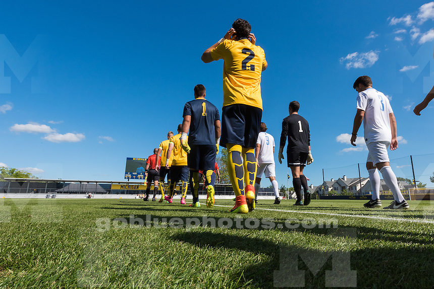 The University of Michigan men's soccer team, 1-0, loss to Columbia at the Michigan Soccer Stadium in Ann Arbor, Mich., on Sept. 2, 2016.