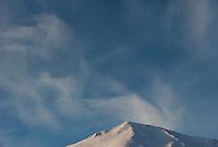 Wisps of cirrus clouds above Mount Marathon, Alaska.