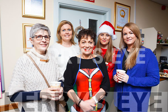 Enjoying the coffee morning in aid of Tir Na nÓg Orphanage Tanzania are l to r: Maureen Murphy (Tir Na nOg), Elaine McKenna, Liz O'carroll, Marie dennehy anf Louise Quill (Tir Na nOg).