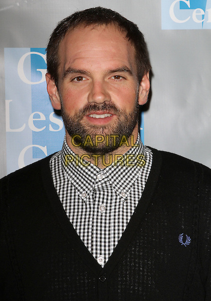 "ETHAN SUPLEE.L.A. Gay & Lesbian Center's ""An Evening With Women"" held at The Beverly Hilton Hotel, Beverly Hills, California, USA..April 16th, 2011.headshot portrait black jumper sweater brown beard facial hair white gingham shirt .CAP/ADM/KB.©Kevan Brooks/AdMedia/Capital Pictures."