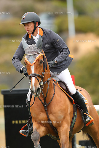 Daisuke Fukushima (JPN), <br /> MARCH 26, 2017 - Equestrian : <br /> CSI2 Kakegawa 2017 <br /> Grand Prix Competition 150 <br /> at Tsumagoi Joba Club, Shizuoka, Japan.  <br /> (Photo by YUTAKA/AFLO)