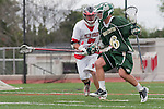 Palos Verdes, CA 04/20/10 - Clay Russert (Mira Costa #6) and Tyler Gonzalez (Palos Verdes #7) in action during the Mira Costa-Palos Verdes boys lacrosse game.