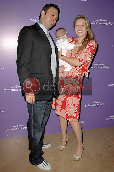 Cody Herpin with Jodie Sweetin and their daughter Zoie<br />at 'Celebration of Babies' luncheon to benefit March of Dimes. Beverly Hilton Hotel, Beverly Hills, CA. 09-27-08<br />Dave Edwards/DailyCeleb.com 818-249-4998
