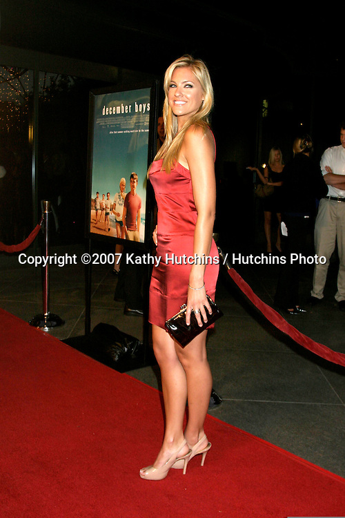 "Candace Kroslak.""December Boys"" Premiere.Director's Guild Theater.Los Angeles,  CA.September 6, 2007.©2007 Kathy Hutchins / Hutchins Photo..."