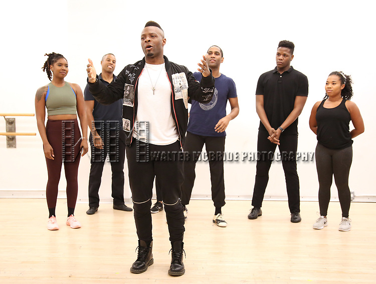 "Choreographer Ricky Tripp and dancers During the Open Rehearsal for the Miami New Drama's World Premiere Musical  ""A Wonderful World"" at the Ripley-Grier Studios on January 26, 2020 in New York City."