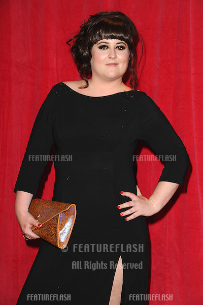 Jessica Ellis arriving for the 2014 British Soap Awards, at the Hackney Empire, London. 24/05/2014 Picture by: Steve Vas / Featureflash