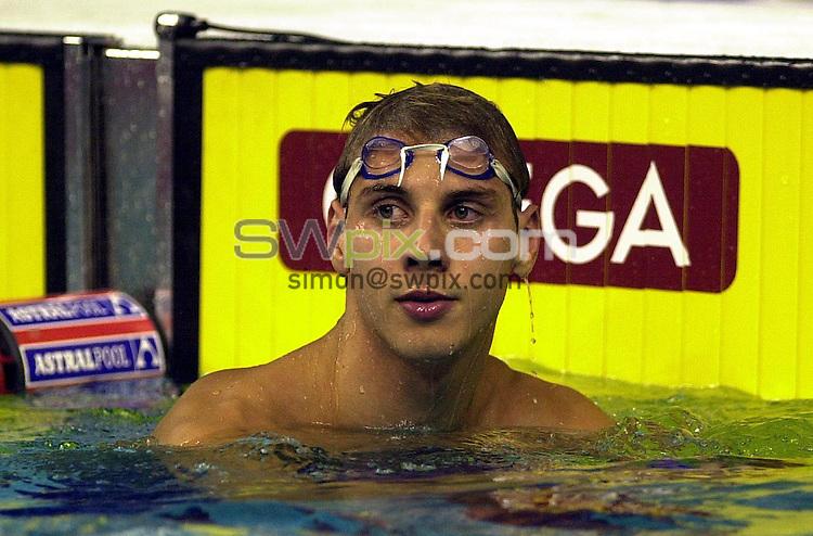Pix: Matthew Lewis/SWpix.com. Swimming. 10th Fina World Championships 2003, Barcelona. 21/07/2003...COPYRIGHT PICTURE>>SIMON WILKINSON>>01943 436649>>..Great Britain's Darren Mew.
