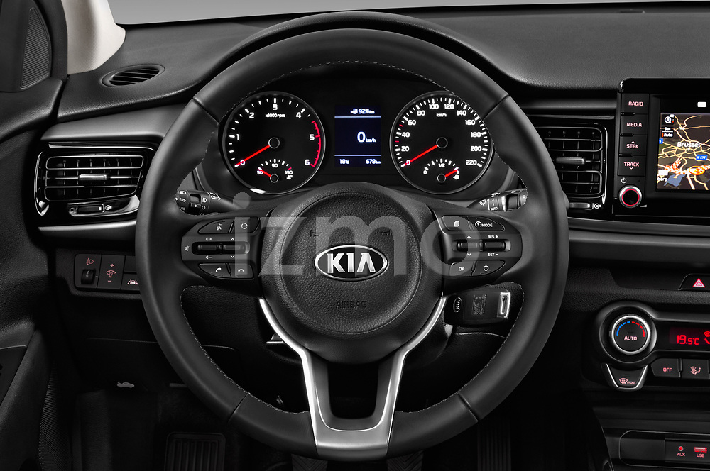 Car pictures of steering wheel view of a 2017 KIA Rio Fusion 5 Door Hatchback Steering Wheel