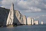 The Pinnacle stack, near Old Harry Rocks, Ballard Point, Dorset, England