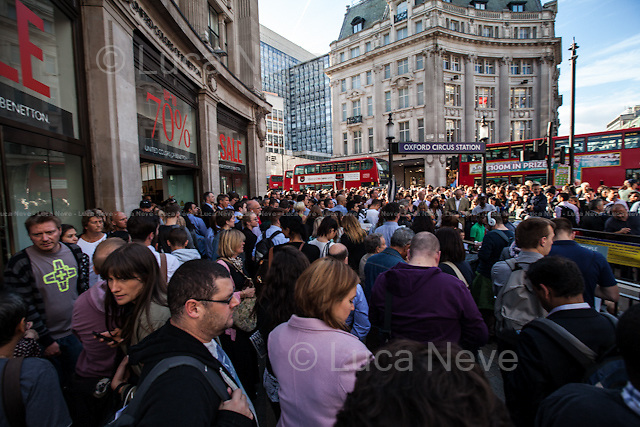 6PM Oxford Circus Tube Station Entrances - Not the Day of the Tube Strike...<br />