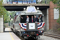 Amtrak train in Charlottesville, VA.  Credit Image: © Andrew Shurtleff