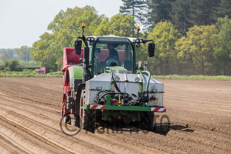 Planting potatoes in Nottinghamshire<br /> &copy;Tim Scrivener Photographer 07850 303986<br /> ....Covering Agriculture In The UK....