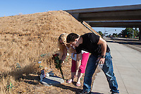 Kimberly Hamilton was a student at Clovis East High School when she died. Her mother, Mary Minnette Sappington, returned to the location of Kimberly's death and to Kim's former school on August 20, 2012.