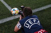 Photographer takes the ball UEFA Under 21 Championship Italy 2019<br /> Cesena 18-06-2019 Stadio Dino Manuzzi <br /> Football UEFA Under 21 Championship Italy 2019<br /> Group Stage - Final Tournament Group C<br /> England - France<br /> Photo Cesare Purini / Insidefoto