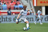 Santa Clara, CA - Sunday July 22, 2018: Florian Jungwirth during a friendly match between the San Jose Earthquakes and Manchester United FC at Levi's Stadium.