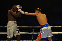 Hosea Burton stops Saudou Sali in the first round  during a Boxing Show at the Metro Radio Arena on 13th October 2018