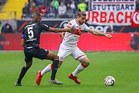 Emiliano Insua (VfB Stuttgart) gegen Gelson Fernandes (Eintracht Frankfurt) - 31.03.2019: Eintracht Frankfurt vs. VfB Stuttgart, Commerzbank Arena, DISCLAIMER: DFL regulations prohibit any use of photographs as image sequences and/or quasi-video.