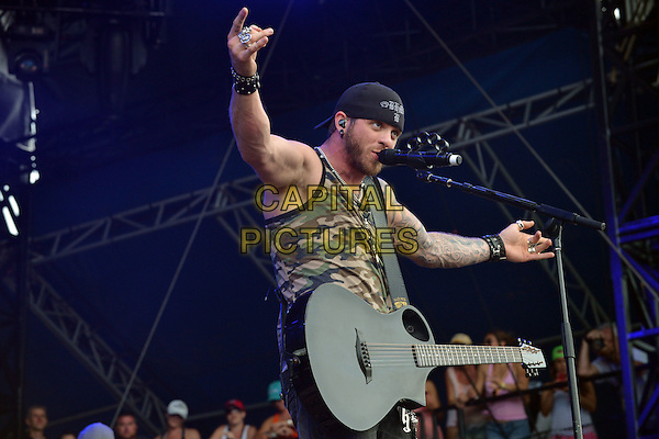 13 April 2014 - Fort Lauderdale, Florida - Brantley Gilbert. 2014 Rock The Ocean&rsquo;s Tortuga Music Festival held at Fort Lauderdale Beach Park. <br /> CAP/ADM/LF<br /> &copy;Laura Farr/AdMedia/Capital Pictures