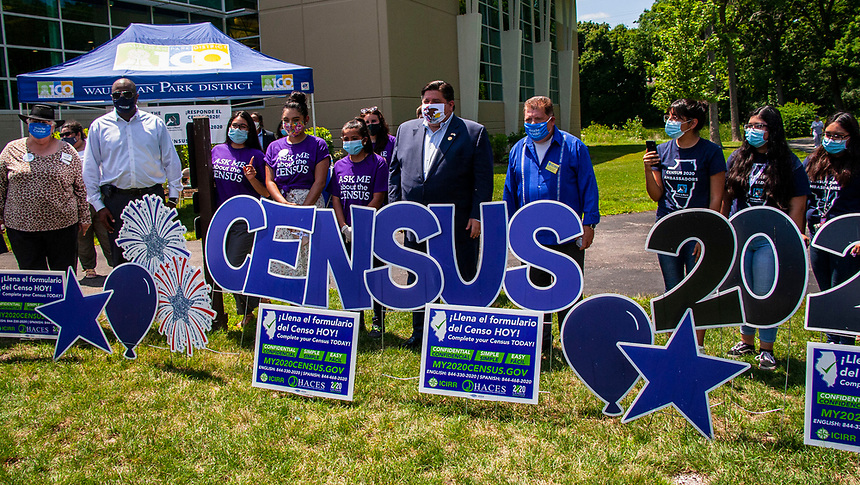 Census Promotion Illinois Governor JB Pritzker was in Waukegan Illinois to encourage people to fill out their census form. The more accurate the census the more money the state will get.