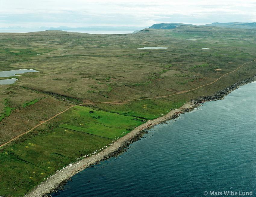 Brímnes í  átt að Innribær, Sauðaneshreppur.Brimnes viewing towards Innribaer, Saudaneshreppur.