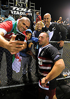 Peter Rowe poses with fans after the 2017 DHL Lions Series rugby union match between the NZ Provincial Barbarians and British & Irish Lions at Toll Stadium in Whangarei, New Zealand on Saturday, 3 June 2017. Photo: Dave Lintott / lintottphoto.co.nz