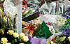Flowers and tributes left at Woolwich Barracks for Drummer Lee Rigby who was murdered near the barracks.<br /> <br /> 25th May 2013 <br /> <br /> Woolwich Barracks, Woolwich, London, Great Britain <br /> <br /> On the afternoon of 22 May 2013, Lee Rigby, a British Army soldier in the Royal Regiment of Fusiliers, was killed by two attackers near the Royal Artillery Barracks in Woolwich in southeast London<br /> <br /> <br /> Photograph by Elliott Franks