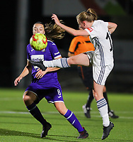 20190920 – LEUVEN, BELGIUM : OHL's Lotte Michiels (15) is pictured during a women soccer game between Dames Oud Heverlee Leuven A and RSC Anderlecht Ladies on the fourth matchday of the Belgian Superleague season 2019-2020 , the Belgian women's football  top division , friday 20 th September 2019 at the Stadion Oud-Heverlee Korbeekdam in Oud Heverlee  , Belgium  .  PHOTO SPORTPIX.BE   SEVIL OKTEM